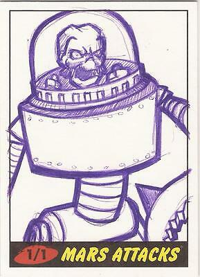 """Mars Attacks Heritage - """"Little House"""" Sketch Card"""