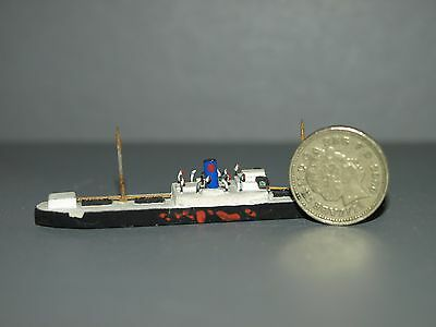"Scratch Built Model Ship 1/1250 Wooden 3.25"" 8.5cm Long 1 of 17 collection"