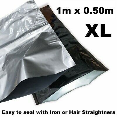 XL Heat Seal Pouch Smell Xray Proof Aluminium Foil Bag Hydroponics Herbs Crop