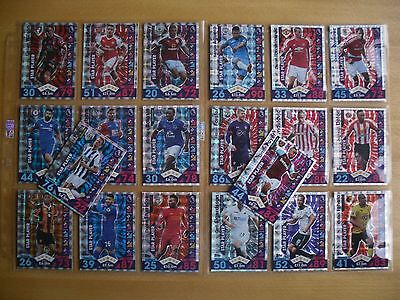 16/17 Topps (2017) - Match Attax - Full Set Of Star Player Foil Trade Cards