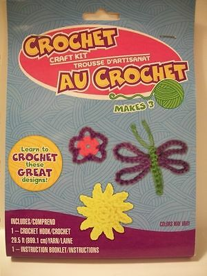 Crochet Craft Kits Makes these Designs: Butterfly, Flower, Sun