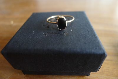 Bague Cabochon Onyx Ginette Ny Or Rose