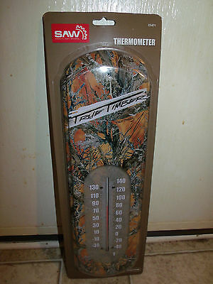 Tin Thermometer, True Timber Design, Indoor/Outdoor Thermometer, New in Pkg
