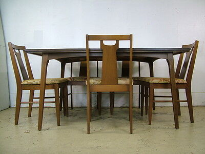 Vintage 1960s Mid Century Modern Organic Table & Chairs Set Excellent!
