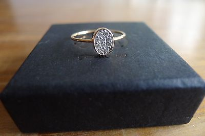 Bague Twenty Ten Ginette Ny Or Rose Diamants Taille 54