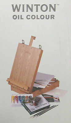 """Winsor & Newton Winton Student Oil """"Box Easel"""" Travel Painting Gift Set"""
