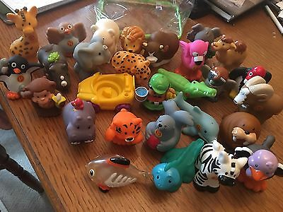 Fisher Price Little People A to Z Learning Zoo 28 Animal Figures Lot Keeper Car