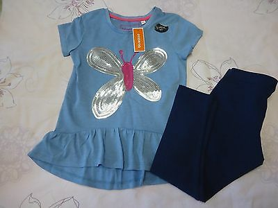 Debenhams bluezoo girls tunic dress & leggings 4-5Y NWT