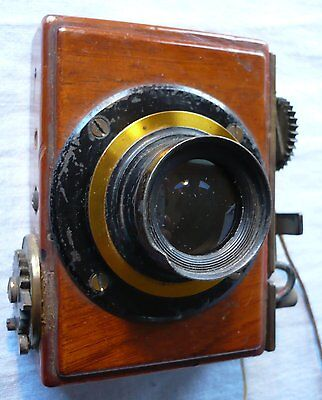 Antique Brass Lens for Plate Camera 5.62 inch with Shutter Mechanism - Working