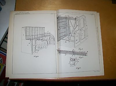Garment Wardrobe Or Cabinet Patent. Kennedy, Montreal, Canada. 1899