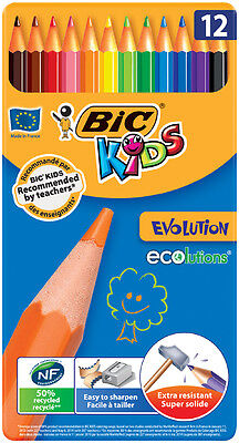 BIC KIDS Buntstifte ECOlutions Evolution, 12er Metallbox