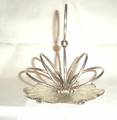 Quality Antique Silver Plated Arts & Crafts  Silver Plated Toast Rack c1890
