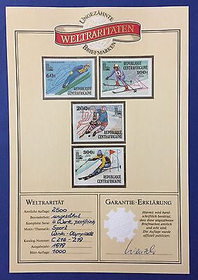 Rep. Centraficaine 1979 Sport Series Of 4 Imperforated Mnh**with Garantie Rrr