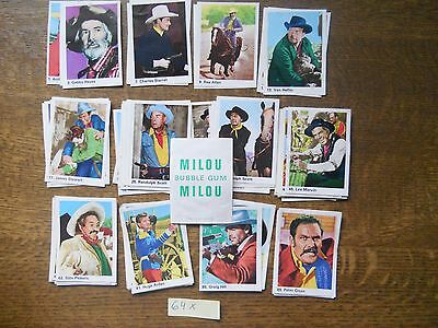 Milou Bubble Gum 64 Differend Cards Of Western Filmstars