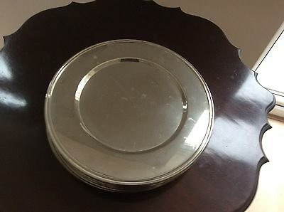 12 Silver Dinner Table Under Plates Wedding Xmas Plates Hot Plates from Harrods