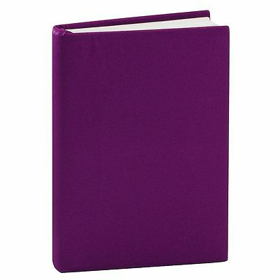 """Purple 8"""" x 10"""" Stretchable Washable Re-Usable Fabric School Book Cover"""