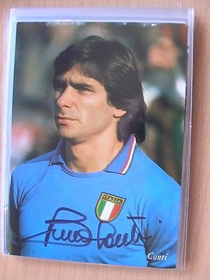 Autogramm Bruno Conti (AS Rom) 483 World Cup Card