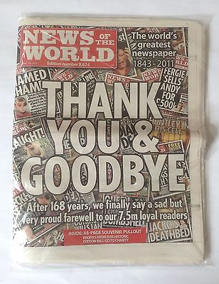 News of the World Newspaper - Last Edition (Sealed)