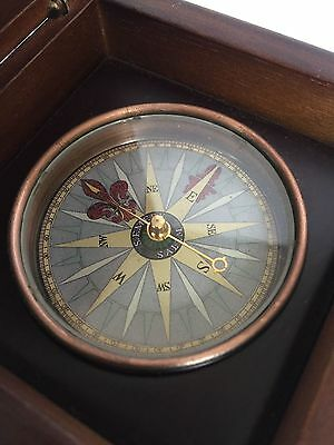 Compass in wooden case