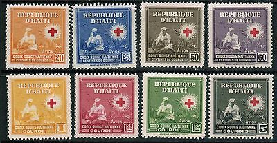 Haiti Air Mail 1945 Sc#C25-C32, Red Cross Issue, MNH** Complete Set cp5