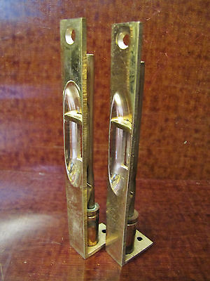 "Two 6"" Vintage Solid Brass Double Door Flush Cremone Slide bolt Lock Latch. IVES"