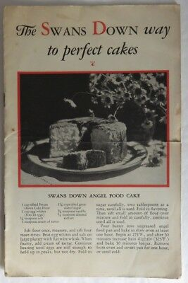 1930 Swans Down Way To Perfect Cakes Booklet                (Inv12809)