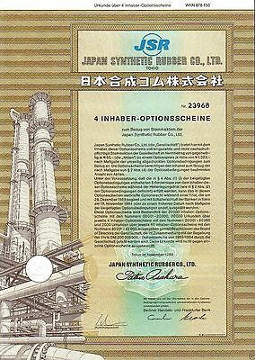 Lot 10 X Japan Synthetic Rubber Co., Ltd. Tokio 4er-OS 1989