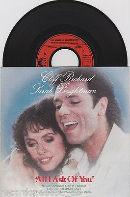 """★★ 7"""" - CLIFF RICHARD & SARAH BRIGHTMAN - All I Ask Of You"""