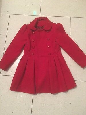Beautiful Red Coat 7-8 Years From George