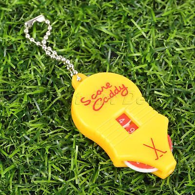 Protable Golf Stroke Shot Putt Score Counter with Key Chain Scoring Keeper Tool