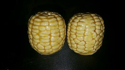 Ear Of Corn Salt & Pepper Shaker Set - Vintage Estate Find