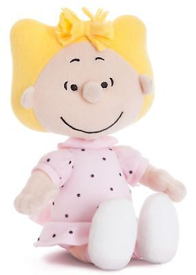 """10"""" PEANUTS~SALLY~Soft Toy~Brand New With Tags~AURORA WORLD~SNOOPY~COLLECTABLE"""