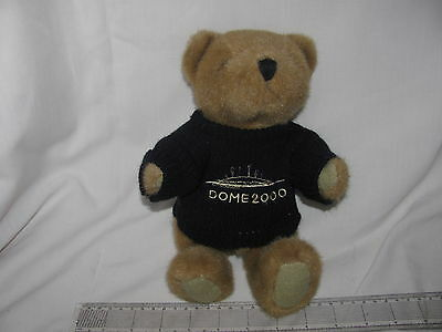 Millenium Dome 2000 Experience Jointed Teddy Bear In Navy Jumper