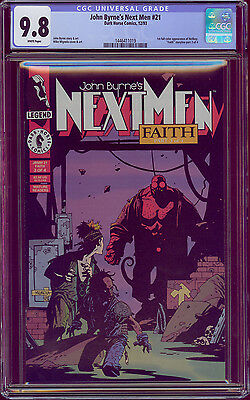 Next Men #21 Cgc 9.8 1St Full Color App Of Hellboy Mike Mignola Dark Horse Comic