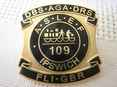 ASLEF/RAILWAY BADGE (Ipswich) Unissued type