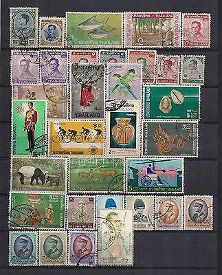 Thailand 33 different stamps used. Mainly 70's