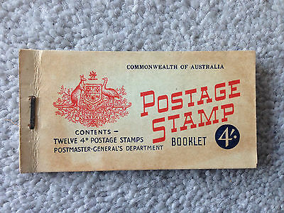 Commonwealth Of Australia stamp booklet 1959, one 4d stamp remaining