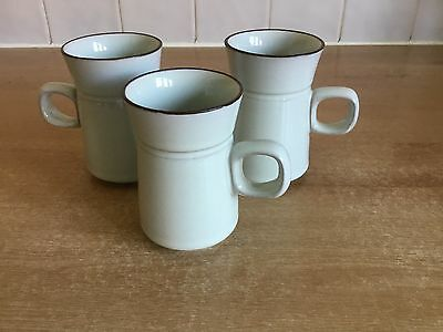 Denby Summit - 3 X Coffee Cans / Cups / Mugs
