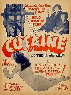 """""""Cocaine"""" 1930s Classic Adult Movie Poster - 18x24"""