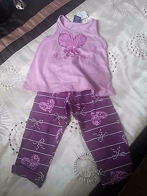 Girl's 2 pieces, leggings and sleeveless top, 3 years, lilac