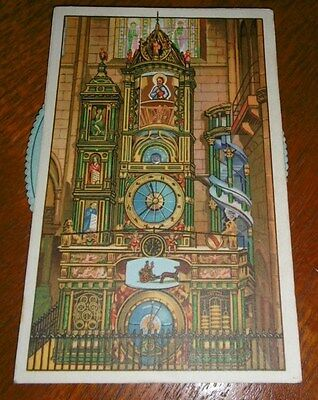 Strasburg-Cathedral France Astronomical clock mechanical post card