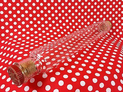 Vintage Classic Pyrex Glass Rolling Pin Christmas Mince Pies Biscuits Cookies
