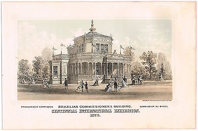 Original Print Centennial International Exhibition Philadelphia 1876 Brazilian