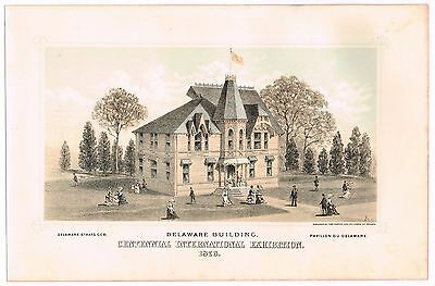 Print Centennial International Exhibition Philadelphia 1876 Delaware Original