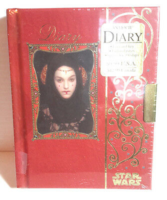 Star Wars Episode 1 Princess Amidala Diary w Key- Style B- 390 Days-SEALED!