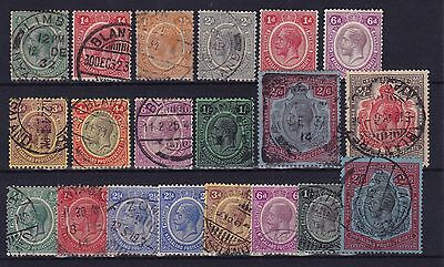 Nyasaland Protectorate #12//35 mint & used.  The cat value is $161.00