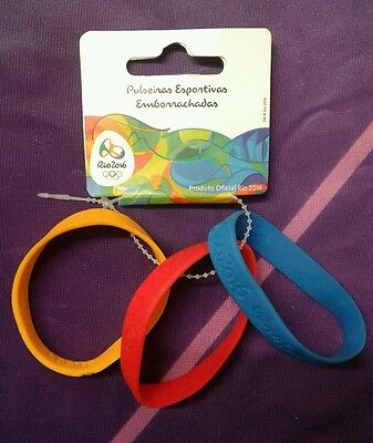 Rio 2016 Official Olympic wristband - Set of 3