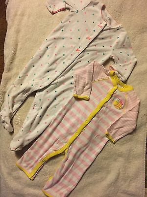 Baby Girl Carters LOT 2 Pieces Pj/lounge, 9 Months