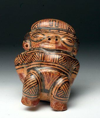 Choice Pre-Columbian Guanacaste-Nicoya Polychrome Female Effigy
