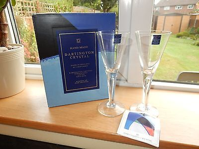 Dartington Crystal Boxed Pair of Sharon Claret  FT115  Wine Glasses